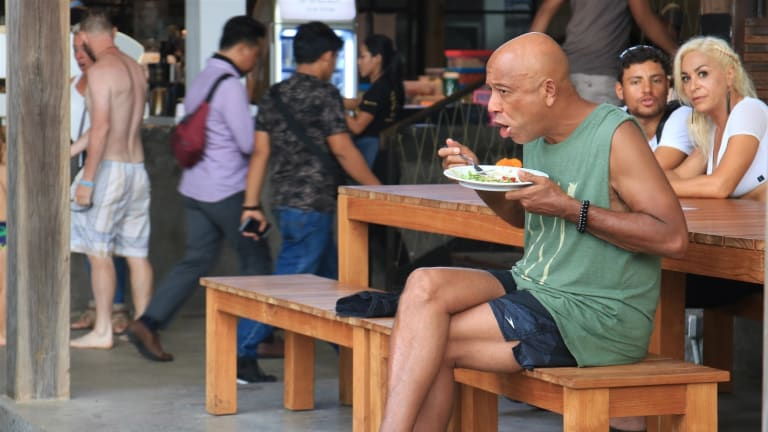 Russell Simmons Really FLED To Bali - Pic Living His Best Life!
