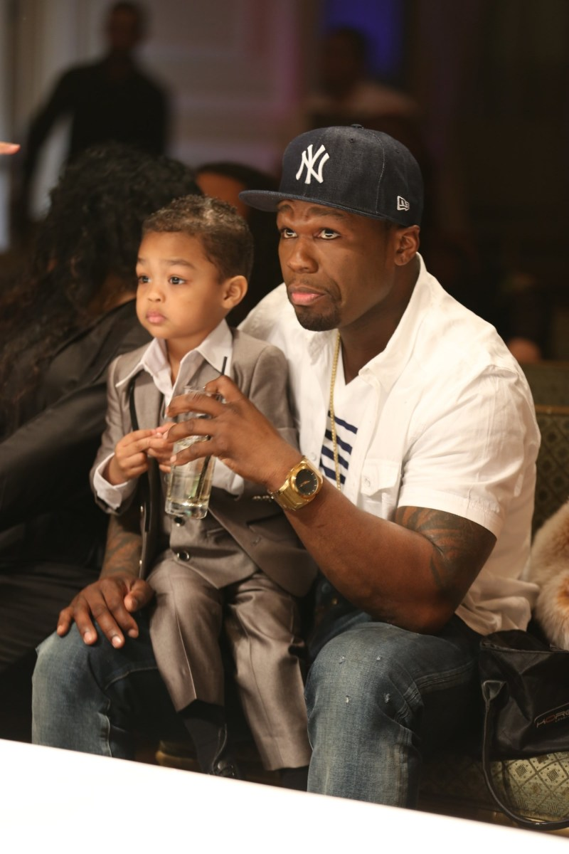 50 Pics That Prove Celebs Are Just As Obsessed With The: 50 Cent's Baby Mama Tells His 5 Year Old Son . . . Your